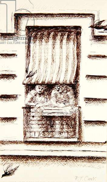 Window on the Street, 1992 (ink on paper)