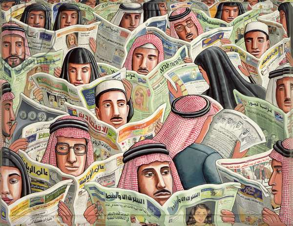 Arabic Papers, 2005 (acrylic on canvas)