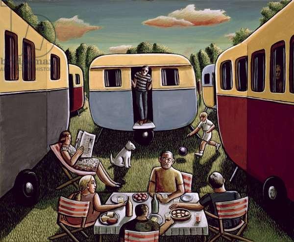 Caravans, 2003 (acrylic on wood)