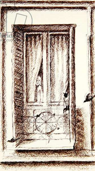 Window on the Courtyard, 1992 (ink on paper)