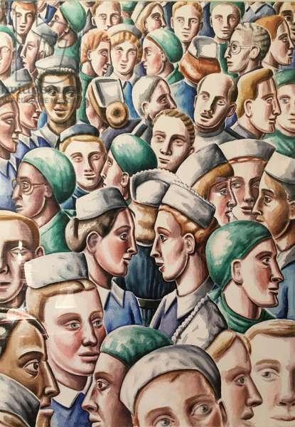 Doctors & Nurses1995, (watercolour)