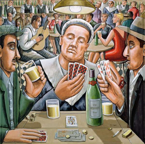 The Poker Players, 2003 (acrylic on wood construction)