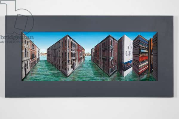 Venice Volumes , 2013-2015 (oil and photographic collage on board construction)