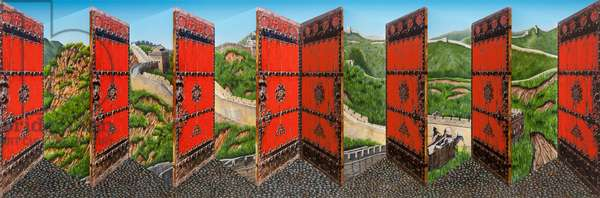 Great Wall, 2016 (hand-painted multiple with archival ink)