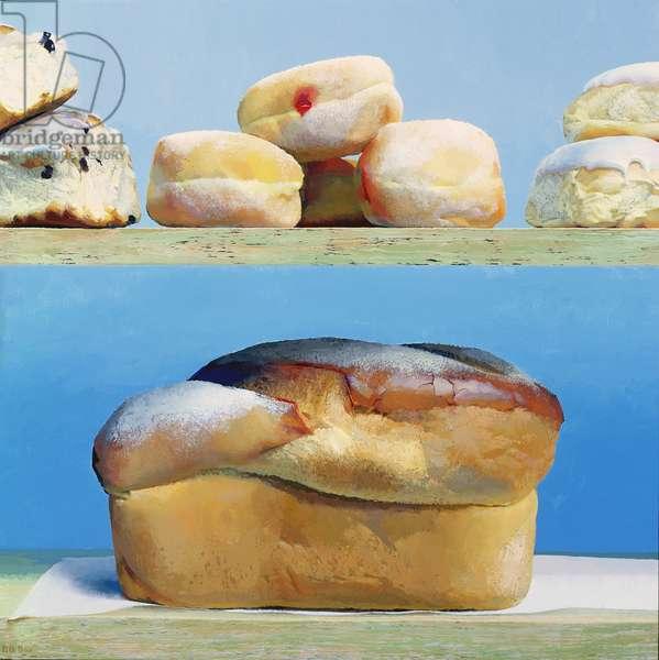 Tea-Time, 2001 (enamel paint on panel)