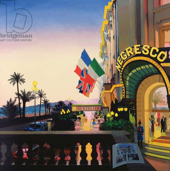 Negresco Hotel, Nice, from the 'Great Hotels of the World' series (enamel on panel)