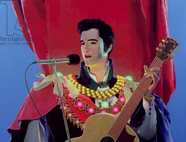 Elvis, 2002 (enamel paint on panel)