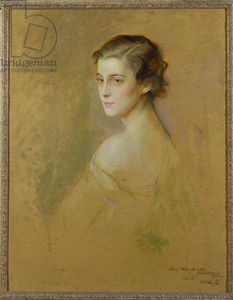 HRH Princess Marina of Greece (1906-68), later the Duchess of Kent, 1934 (oil on board)