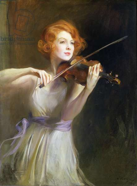 Miss Lisa Minghetti, 1933 (oil on canvas)