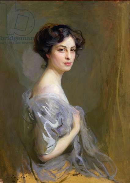 Lady Victoria Wemyss (nee Bentinck), 1911 (oil on board)