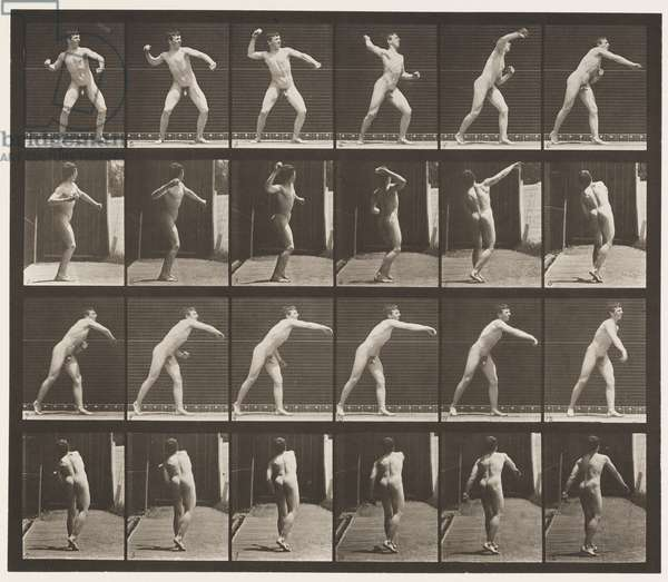 Plate 286. Base-ball; Throwing, 1885 (collotype on paper)
