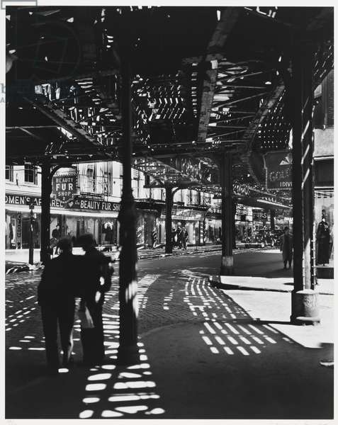 EL 2nd and 3rd Avenue Lines, neg. 1936, printed 1979 (gelatin silver print)