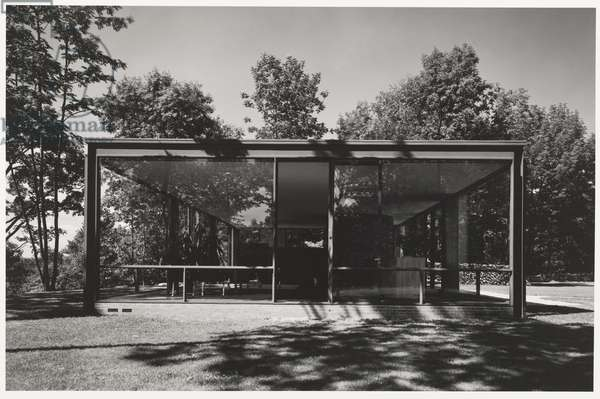 Glass House (Johnson House), New Canaan, Connecticut; Architect: Philip Johnson, 1949 (gelatin silver print)