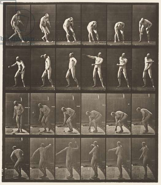 Plate 302. Picking Up A Ball and Throwing It, 1885 (collotype on paper)