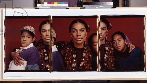 Sara, Martin David and Tolani, 1992 (Polacolor ER prints (triptych))