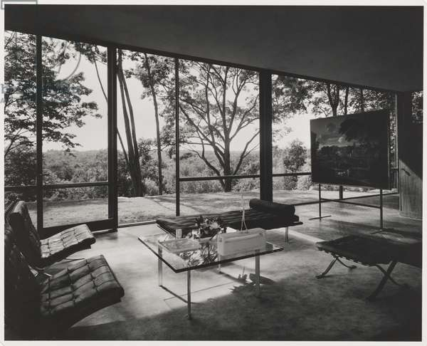 Glass House (Johnson House), New Canaan, Connecticut; Architect: Philip Johnson (gelatin silver print)