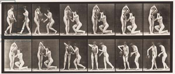 Plate 452. Two Models, 8 Kneels, Drinks from Water-Jar in Hands, 1872-85 (collotype on paper)