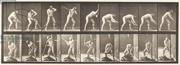 Plate 396. Pounding with a Mallet, 1872-85 (collotype on paper)
