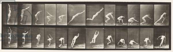 Plate 162. Jumping; Standing Broad Jump, 1872-85 (collotype on paper)