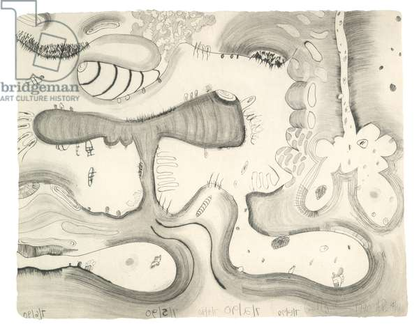 At the Edge, 1990 (drypoint on Angoumois a la main paper)