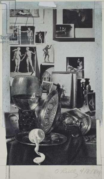 Studio Shelf, 1984 (Polaroid montage)