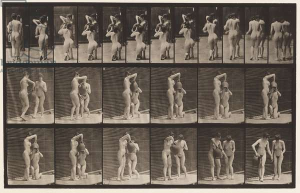 Plate 453. Two Models; 8 Kneels, Drinks from Water-Jar in Hands, 1872-1885 (collotype on paper)