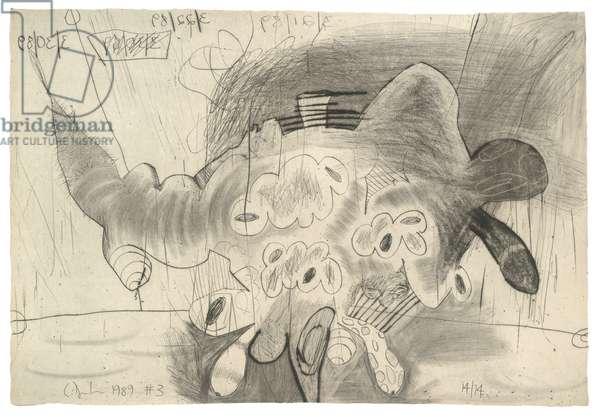 Shadows (#3), 1989 (drypoint on Richard de Bas handmade paper)