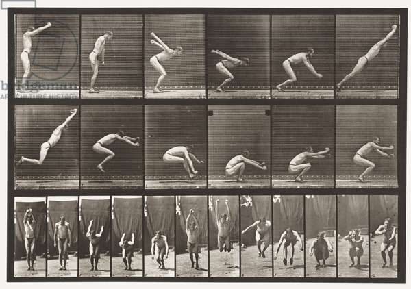 Plate 163. Jumping; Standing Broad Jump, 1872-85 (collotype on paper)
