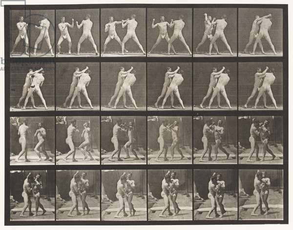 Plate 330. Boxing; Cross-Counter (Shoes), 1872-85 (collotype on paper)