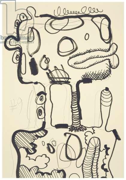 #9, 1993 (offset litho on Japico ivory paper)