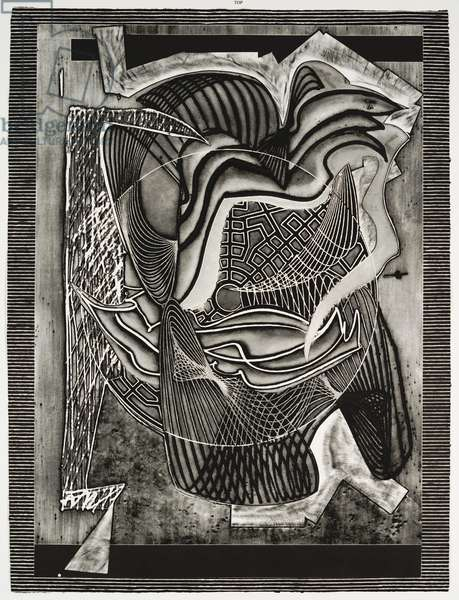 The Funeral, 1991 (etching, aquatint, relief, drypoint & carborundum on paper)