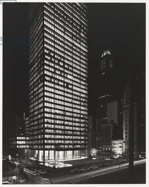 Seagram Building, New York City; Architects: Ludwig Mies Van Der Rohe with Philip Johnson and Kahn and Jacobs, 1958 (gelatin silver print)