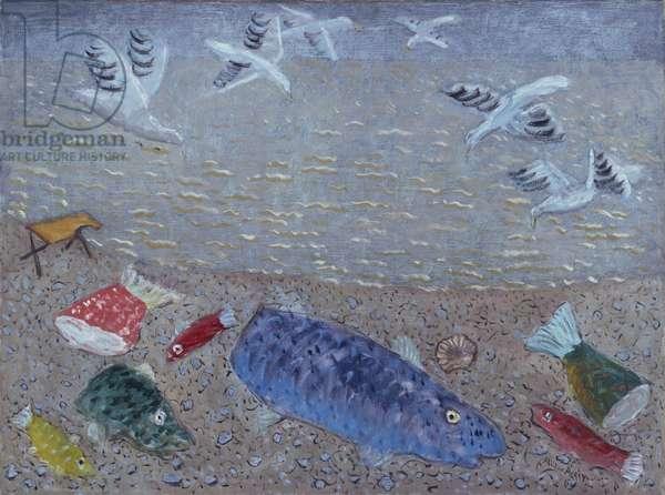 Sea Gulls—Gaspé, 1938 (oil on canvas)