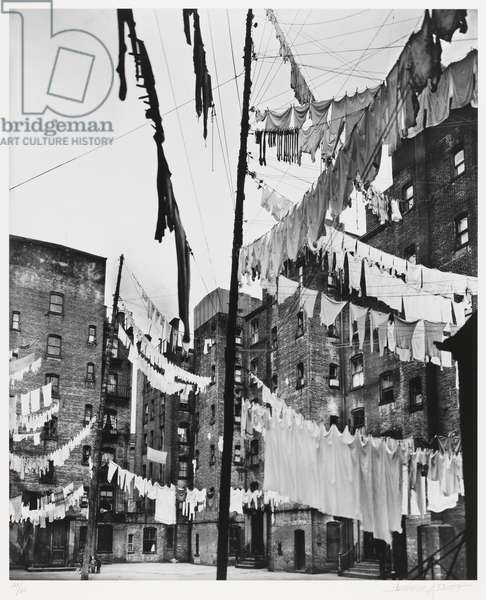 Court of the First Model Tenement, 1930s, printed 1979 (gelatin silver print)