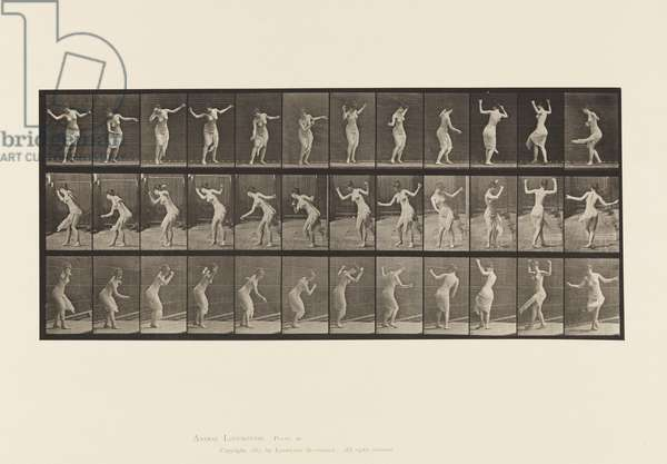 Plate 191.Dancing (fancy), 1885 (collotype on paper)