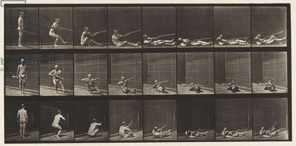 Plate 358. Lying on Back and Firing, 1872-85 (collotype on paper)