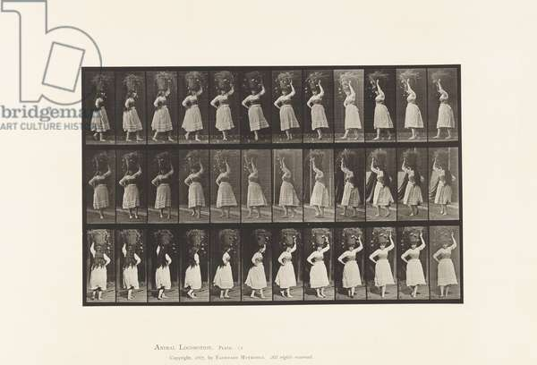 Plate 57. Walking Turning Around, 10-lb basket on Head, 1885 (collotype on paper)