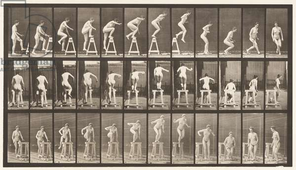 Plate 171. Stepping on a Trestle; Jumping Down, Turning, 1872-85 (collotype on paper)
