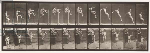 Plate 152. Jumping; Running Straight High Jump (Shoes), 1872-85 (collotype on paper)