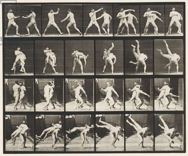 Plate 332. Boxing; Cross-Buttocks (Shoes), 1872-85 (collotype on paper)