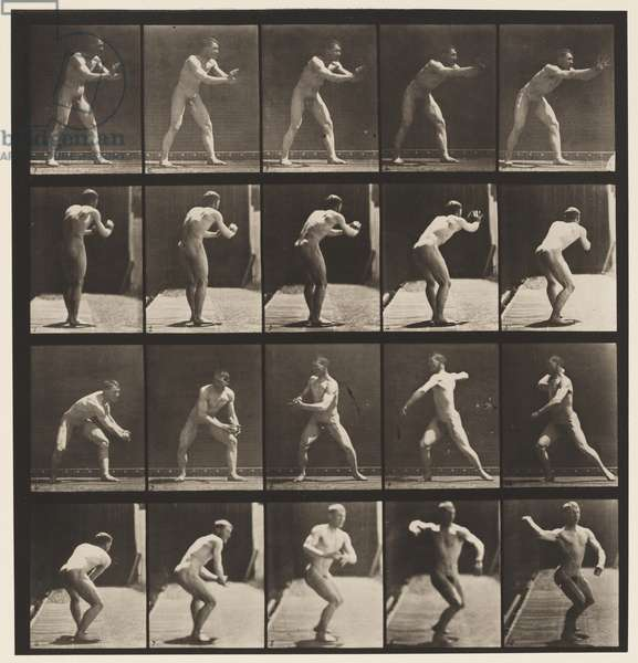 Plate 282. Base-ball; Catching and Throwing, 1885 (collotype on paper)
