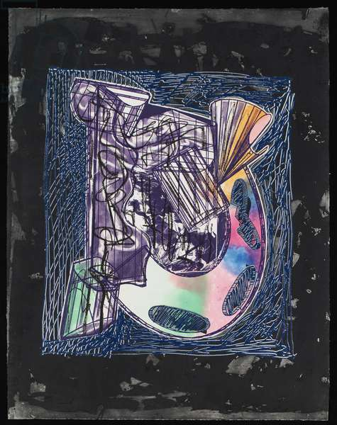 Bene come il sale, State IV, 1989 (etching, aquatint & relief on paper)