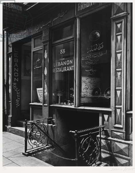 Lebanon Restaurant, neg. 1930s, printed 1979 (gelatin silver print)