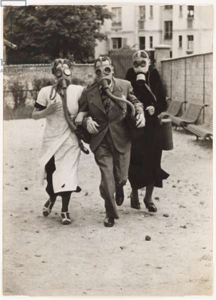A bit of exercise to get used to the masks, 1934 (gelatin silver print)
