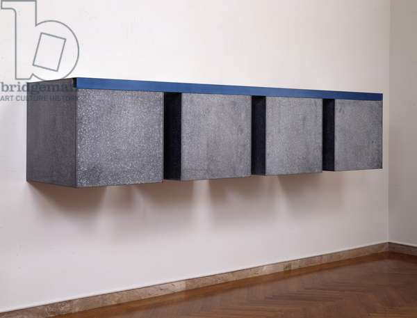 To Susan Buckwalter, 1965 (blue lacquer on aluminium & galvanized iron)
