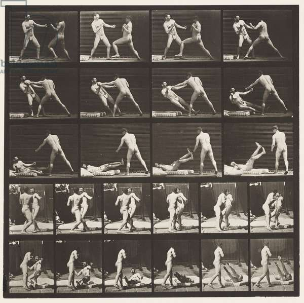 Plate 333. Boxing; 53 Knocking 52 Down (Shoes), 1872-85 (collotype on paper)