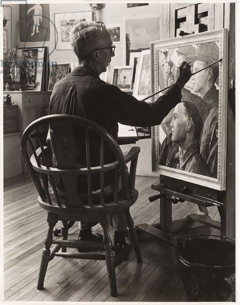 Norman Rockwell, 1964 (gelatin silver print)