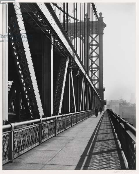 Manhattan Bridge, neg. 1936, print 1979 (gelatin silver print)