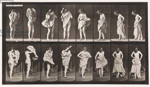 Plate 425. Toilet, Putting on Dress and Turning Around, 1872-85 (collotype on paper)