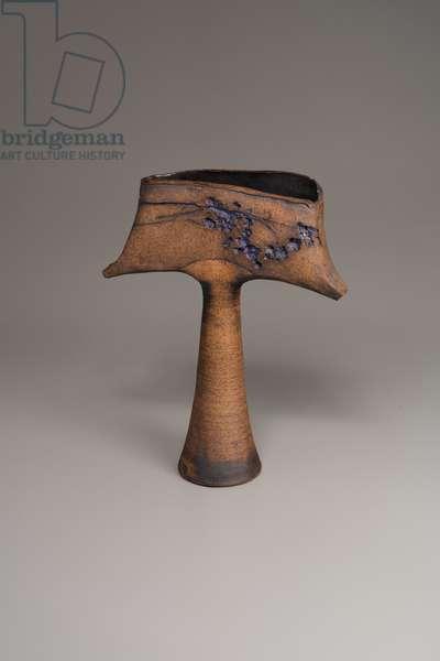 Footed Slab Vase, 1965 (ceramic)